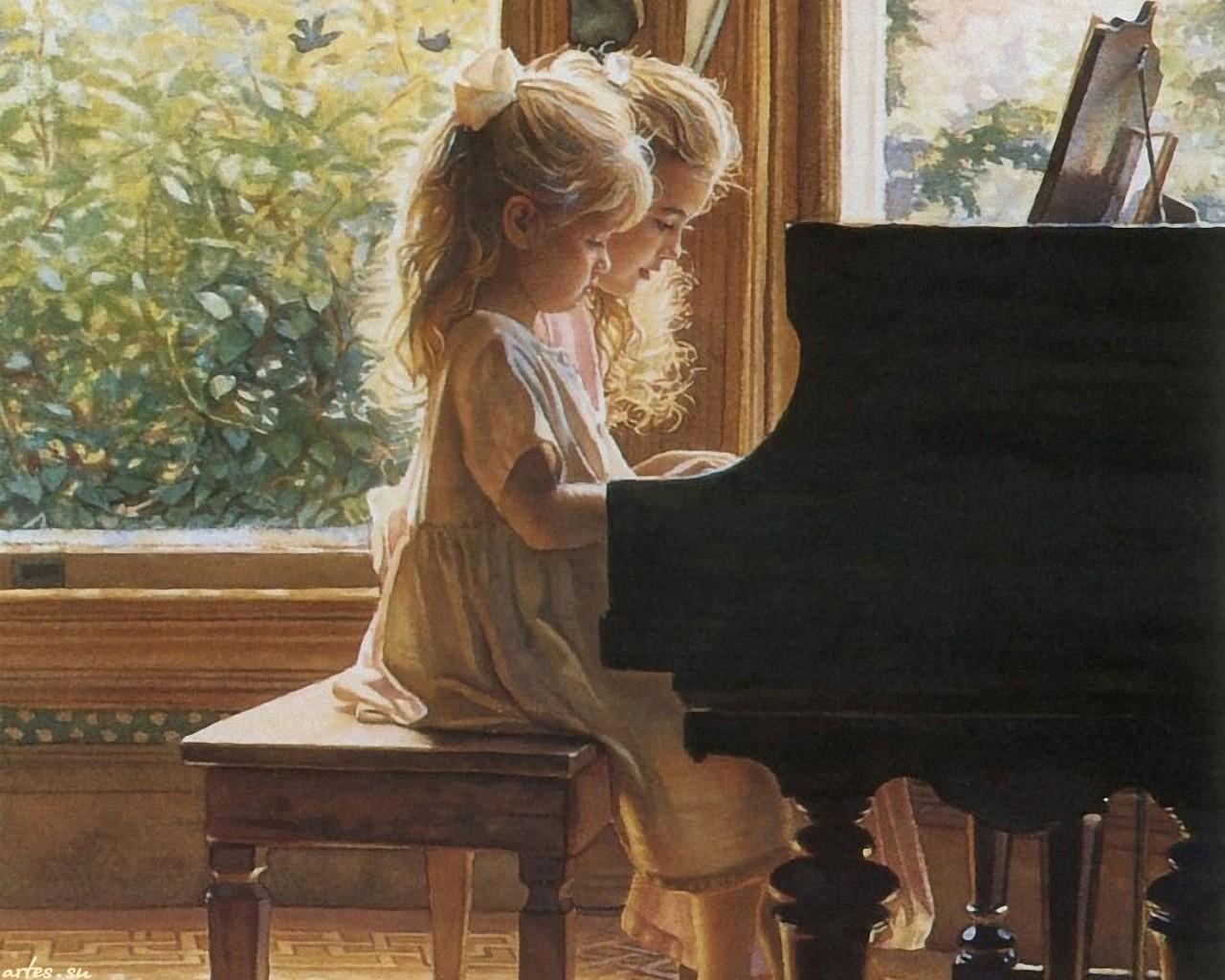bé 5 tuổi có thể chơi đàn piano