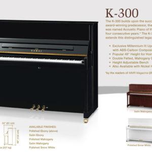 Đàn piano Kawai K300 – cây đàn kết tinh giá trị thương hiệu của Kawai